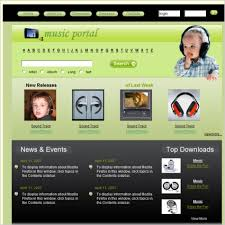 free download music templates free website templates for free