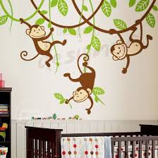 Nursery Monkey Wall Decals Silly Hanging Monkeys Wall Decal Mural Wall Stickers Tree