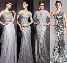 silver wedding dresses for brides brides bridesmaids fashion sparkling bridesmaids gold sequins