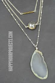 make necklace with stone images Bead and stone layering necklaces happy hour projects jpg