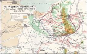 Map Netherlands History Trips 1945 Canadian Victory Campaign