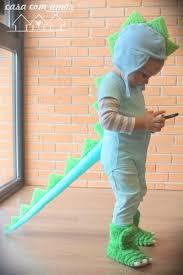 Child Dinosaur Halloween Costume Tutorial Easy Adorable Dinosaur Costume