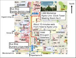 gt cus map direction to the hotel and kyoto clock tower