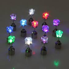 led earrings flower led earrings ear stud for party christmas