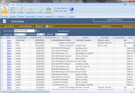 Free Excel Crm Template Sles Of Microsoft Access Databases Access Exles
