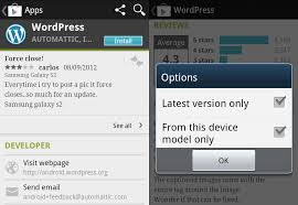 android reviews android apps reviews filtered by device model