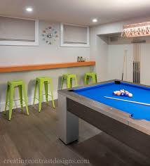 basement design living space u0026 pool table creating contrast designs