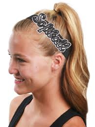 sparkly headbands glam softball elastic headbands glitter headbands no slip