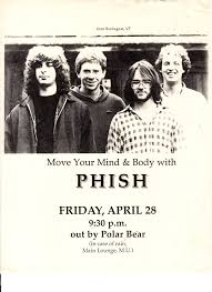 poster from 1989 04 28 bowdoin college brunswick maine phish