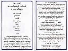 30th reunion program reunions high reunions and