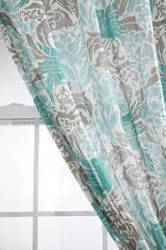 Gray And Teal Shower Curtain Gray Curtains Teal Shower Curtains Ebay