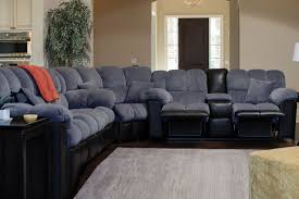 Grey Recliner Sofa Gray Leather Sectional With Chaise Comfy Sectional Leather L