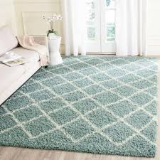7 x 7 area rugs safavieh dallas shag ivory light blue 5 ft 1 in x 7 ft 6 in