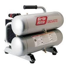 grip rite 4 3 gal portable twin stack electric air compressor