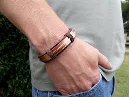 leather hand bracelet images Men 39 s leather and copper bracelet men 39 s leather jpg
