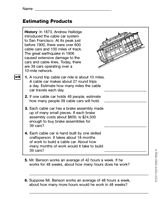 estimation word problems 4th grade word problems estimating math practice worksheet grade 3