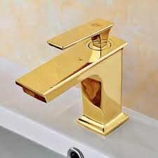 European Bathroom Fixtures European Bathroom Faucet Gold Brass Square Section Single
