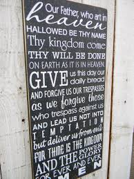 the lord s prayer typography wood sign by americanatheart on etsy