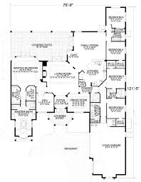 mediterranean style house plan 5 beds 3 50 baths 4265 sq ft plan
