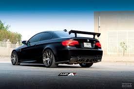 Bmw M3 Blacked Out - murdered out bmw e92 m3 on amp 55 monoblock forged wheels finished