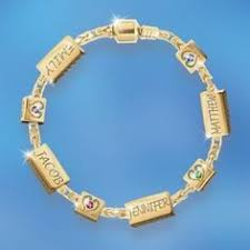 s day bracelet with birthstones engraved birthstone bracelet with heart charms
