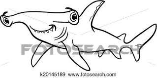 clip art hammerhead shark coloring book k20145189
