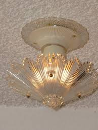 3 Chain Ceiling Light Fixture Item Code Cei20090630001 Sold Year 1930 1940 3 Chain Ceiling