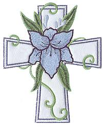 floral cross applique embroidery design annthegran embroidery
