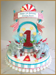 circus cake toppers birthday minish designs