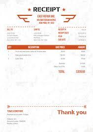 receipt template 100 free receipts send via email