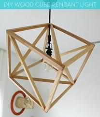 Pendant Light Diy How To Make A Diy Wood Cube Pendant Light Curbly