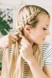 2 braids in front hair down hairstyle long natural hair dutch braid tutorial a beautiful mess