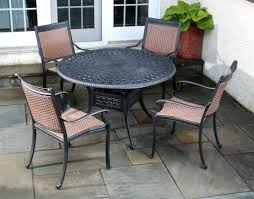 Outdoor Table Lazy Susan by Patio Ideas The Aluminum 5pc Amazon Dining Set Cast Aluminum