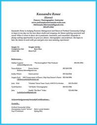 Dance Resume Examples by Resume For Food Service Assistant Google Search Resume Stuff
