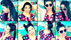 8 cute u0026 easy summer hairstyles no heat youtube