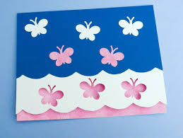 card idea scalloped edge card tutorial greeting card