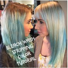Sundara Hair Extensions by How To Strip Out Colored Hair Bleach Wash Tutorial Part 1 Youtube