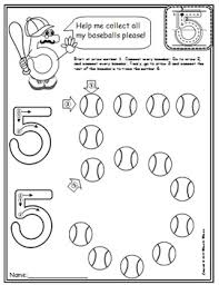 5 math worksheets no prep pre kg edition counting and