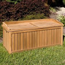 Wood Outdoor Storage Bench Jakie 4 Ft Teak Outdoor Storage Bench Outdoor