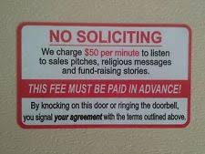 no soliciting door sign ebay