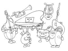 music instruments coloring pages aecost net aecost net