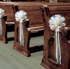 pew decorations for weddings 6 large ivory tulle pull bows wedding pew decorations church chair