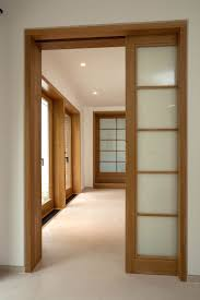 Interior Glazed Doors White by Plain Pocket Doors Interior Pantry Door Stained Dark Brown To