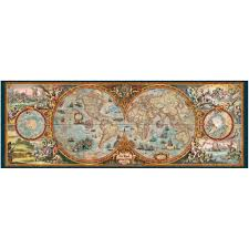 Blank Hemisphere Map by