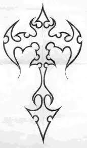 tattoo cross tribal design cross tattoos halloween pinterest tattoo images and tattoo