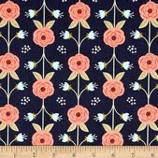 Peach Floral Curtains Cotton Steel Rifle Paper Co Les Fleurs Rayon Challis Birch Floral