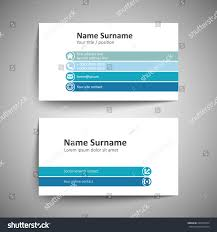 modern simple business card template vector stock vector 240379594