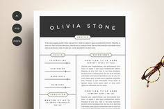 resume cv u0026 cover letter template by blissful pixels on creative
