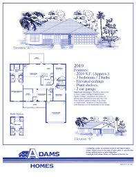 Custom Floor Plans For New Homes by On Your Lot In Palm Bay Adams Homes