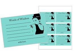 Words Of Wisdom Cards Breakfast At Tiffany U0027s Words Of Wisdom Cards Printable